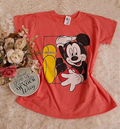 Camiseta Atacado  Mickey Coral