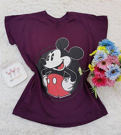 T Shirt no Atacado Mickey Vinho