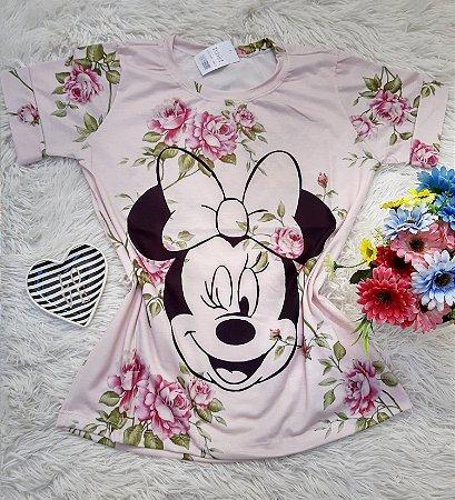 T-Shirt No Atacado Minnie Rosto Floral