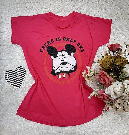 Tee No Atacado Mickey Fundo Pink