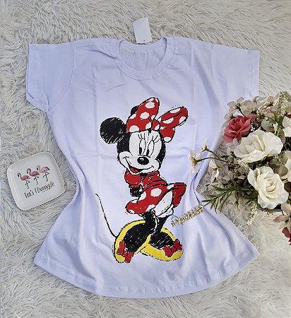 T-Shirt No Atacado Minnie Charmosa Branco