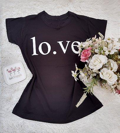 Camisa No Atacado Love Preto