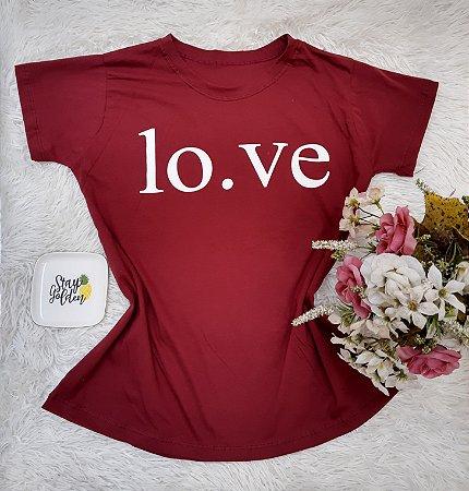 Camisa  No Atacado Love Vermelho