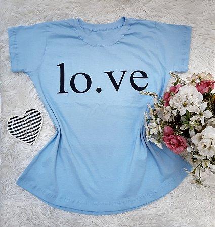 Camisa No Atacado Love Azul