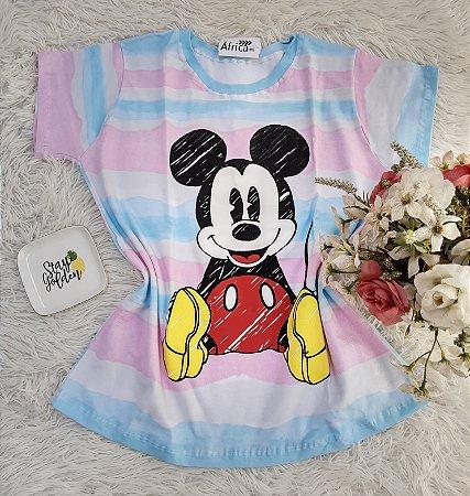 Camiseta No Atacado Mickey Listras