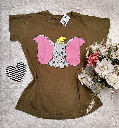 Camiseta No Atacado Dumbo Musgo