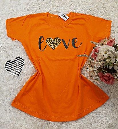 T-Shirt No Atacado Love Laranja
