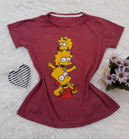 Camiseta No Atacado Simpsons Filhos