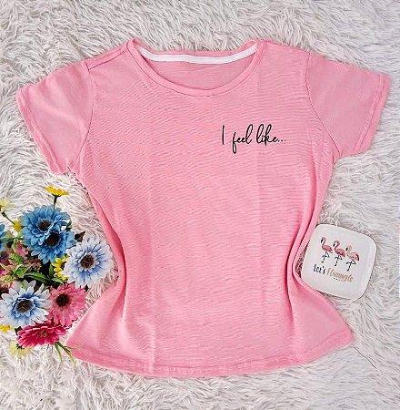 Camiseta No Atacado I FeelLike Rosa