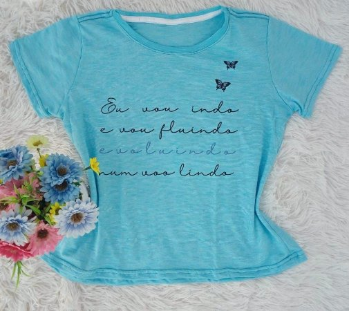 Camiseta No Atacado Vou Lindo Azul