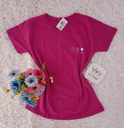 Camiseta No Atacado  Elementos Rosa