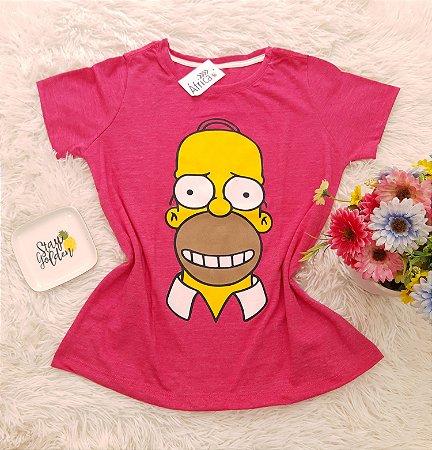 Camiseta No Atacado Homer Rosa