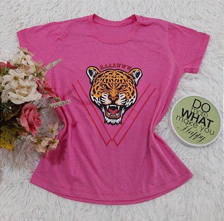 Camiseta No Atacado Tigre Rosa