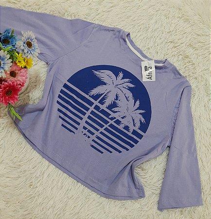 Camiseta No Atacado Coqueiros Lilás