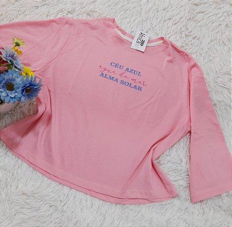 Camiseta No Atacado Ceú Rosa