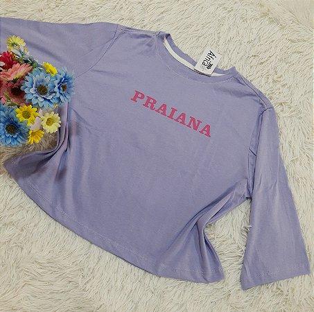 Camiseta No Atacado Praianas Lilás
