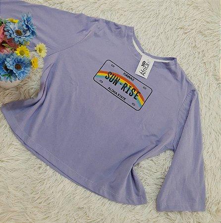 Camiseta No Atacado Sun-Rise Lilás