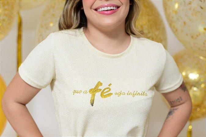 Camiseta No Atacado Fé Dourado