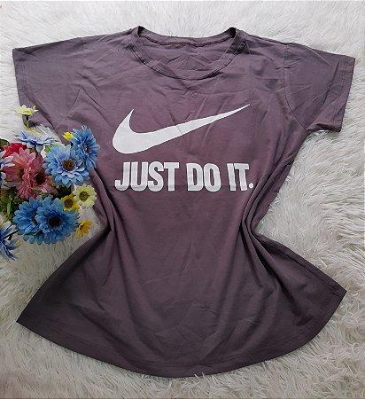 Camiseta No Atacado Just Do It Cinza