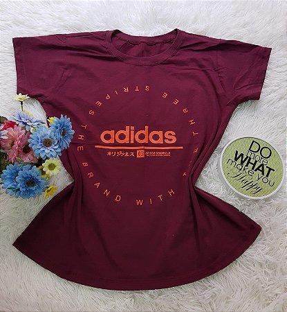 Camiseta No Atacado Adidas Stripes Vinho