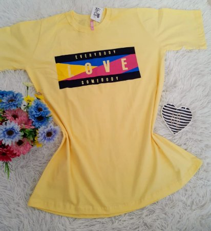 Blusão No Atacado Love Amarelo