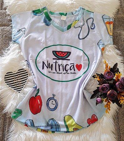 T shirt Feminina Profissão no Atacado Nutrição