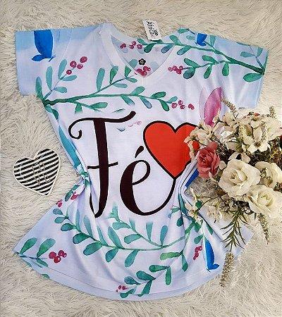 T shirt Feminina Religiosa no Atacado Fé Ramos