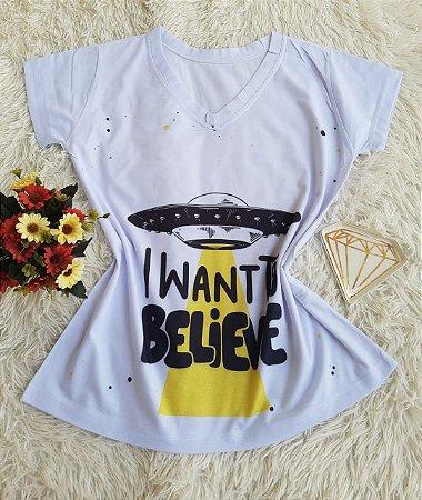 T-shirt Feminina Believe