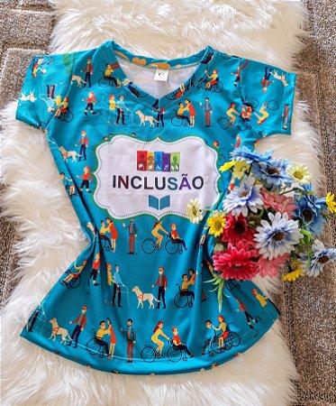 T shirt Feminina Profissão no Atacado Inclusão