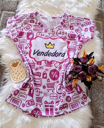 T shirt Feminina Profissão no Atacado Vendedora