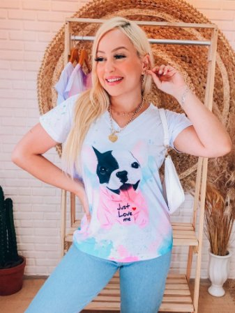 T-shirt Feminina Dog Love
