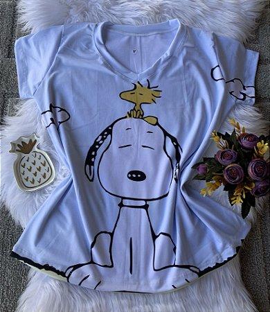 Camiseta Feminina Personagem No Atacado Snoopy Grande