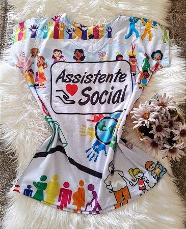 T shirt Feminina Profissão no Atacado Assistente Social