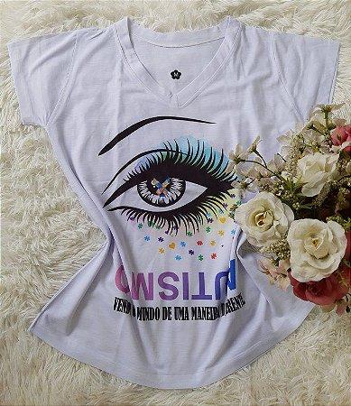 T shirt Feminina Profissão no Atacado Autismo