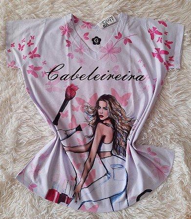 T-shirt Feminina Cabeleireira