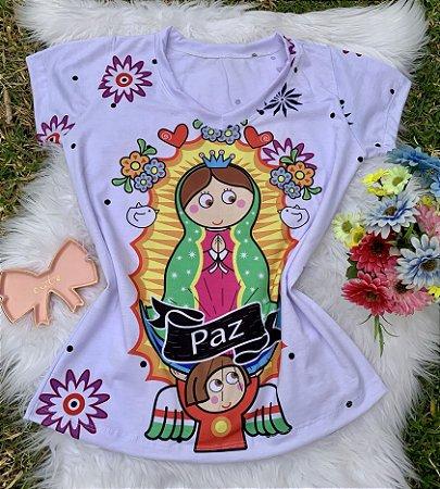 T shirt Feminina Religiosa no Atacado Santa Paz