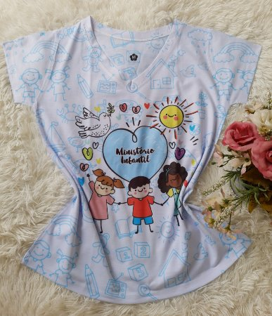 T shirt Feminina Profissão no Atacado Ministério Infantil