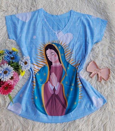 T shirt Feminina Religiosa no Atacado Santa