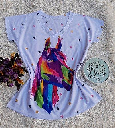 Blusa Feminina Estampa Animal no Atacado Cavalo Colorido