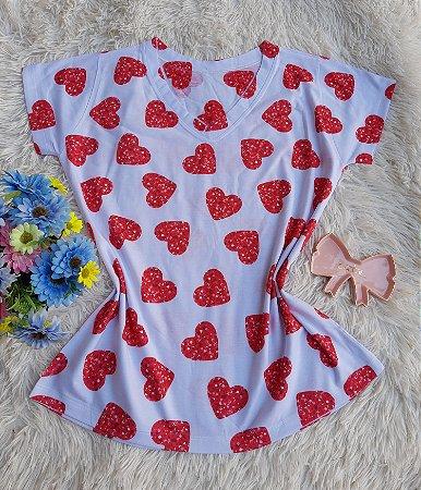 Blusa Feminina no Atacado Corações Vermelhos