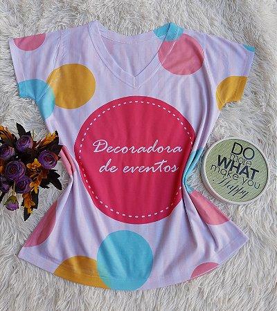 T shirt Feminina Profissão no Atacado Decoradora de Eventos