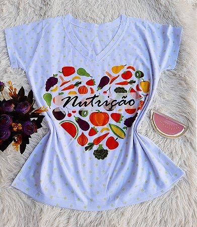 T shirt Feminina Profissão no Atacado Nutrição Coração