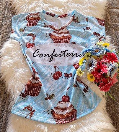 T shirt Feminina Profissões Confeiteira