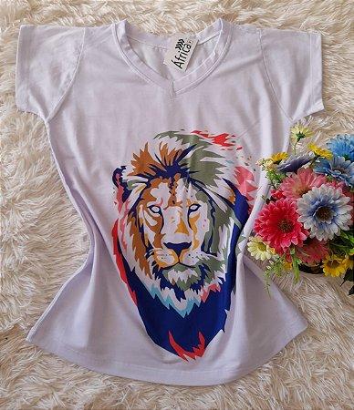 T shirt Feminina Básica no Atacado Leão