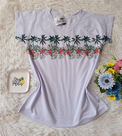 T shirt Feminina Básica no Atacado Coqueiro