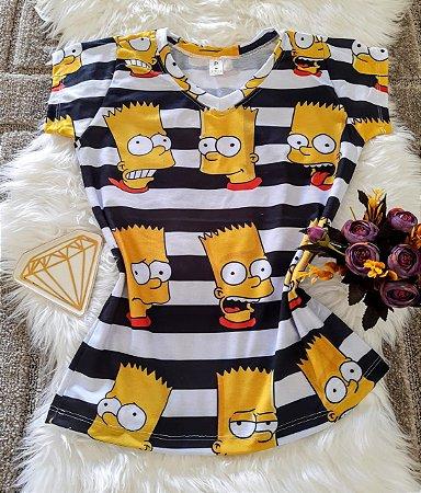 Camiseta Feminina Personagem No Atacado Bart