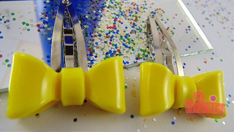 Tic Tac (Par) Coleção Fita Flor. Laço Amarelo
