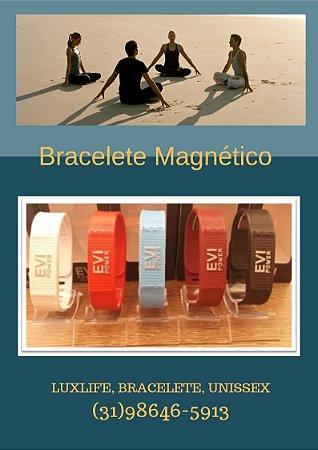 Bracelete do Equilíbrio com Infravermelho e Ímanes  EVI POWER (COR: PRETA) Adulto