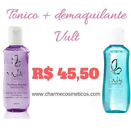 Kit pele hidratada - DEMAQUILANTE + TONICO -Vult