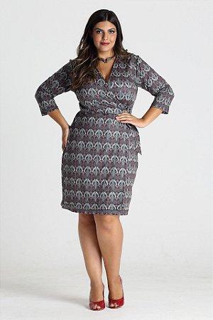 Vestido Avalon estampado em malha - VEIN1704v